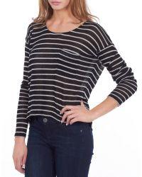 William Rast - Striped Boxy Sweater - Lyst
