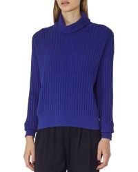 Reiss - Ribbed Roll-neck Sweater - Lyst