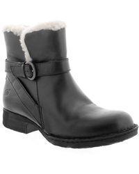 Born - Kaia Leather Shearling Booties - Lyst