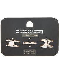 Lord & Taylor - Three-piece Stone Orb Ring Set - Lyst