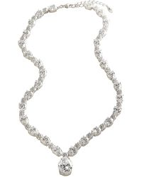 Nadri - All Around Cubic Zirconia Pear Drop Necklace - Lyst