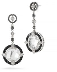 DeLatori - 20ct Clear Crystal And Black Spinel Earrings - Lyst