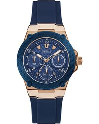 Guess - Active Life U1094l2 Multi-function Silicone Strap Watch - Lyst