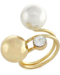 BCBGeneration - Multi-ball Faux Pearl Ring - Lyst