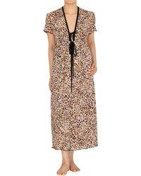Jones New York - Semi-sheer Leopard Robe - Lyst