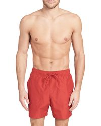 Calvin Klein | Euro-length Volley Shorts | Lyst