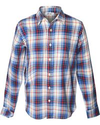 Dex - Long Sleeve Pocket Plaid Shirt - Lyst