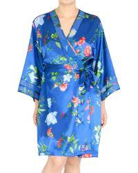 Jones New York - Floral-printed Satin Short Robe - Lyst
