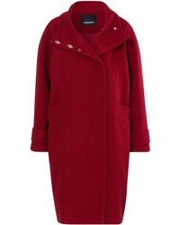 Olsen | Funnel Neck Cloth Coat | Lyst