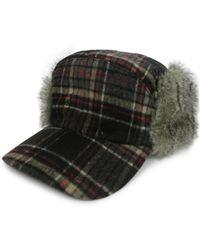Hudson North - Plaid Faux Fur Quilt-lined Baseball Hat - Lyst