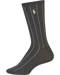 Lauren by Ralph Lauren - Banker Stripe Trouser Socks - Lyst