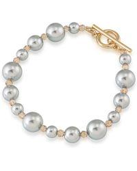 Carolee - 12k Goldplated Faux Pearl Bracelet - Lyst