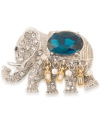Carolee - Night At The Museum Silvertone Royal Elephant Pin - Lyst