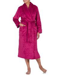 Jasmine Rose - Chevron Shawl Collar Wrap Robe - Lyst