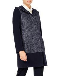 Jacques Vert - Textured Block Hooded Coat - Lyst