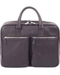 Bugatti - Sartoria Large Zipper Leather Briefcase - Lyst