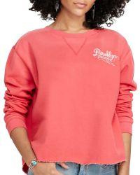Denim & Supply Ralph Lauren   Cropped Fleece Sweatshirt   Lyst