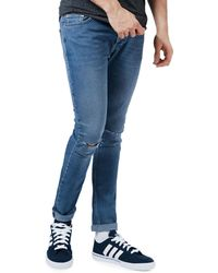 TOPMAN | Freeway Ripped Stretch Skinny Jeans | Lyst