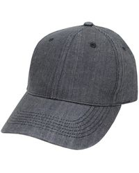Hudson North - Chambray Denim Ball Cap - Lyst