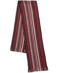 London Fog - Striped Wool Fringe Scarf - Lyst