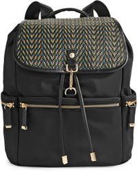 CALVIN KLEIN 205W39NYC - Woven String Flap Nylon Backpack - Lyst