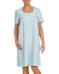 Jasmine Rose - Plus Lace-trimmed Printed Nightgown - Lyst