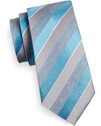 Geoffrey Beene - Striped Silk-blend Tie - Lyst