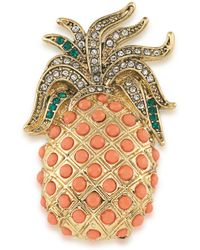 Carolee - Standing Tall Goldtone Pineapple Pin - Lyst