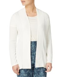 Eastex - Edge To Edge Ribbed Knit Cardigan - Lyst