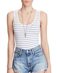 Denim & Supply Ralph Lauren | Sleeveless Jersey Bodysuit | Lyst