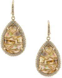ABS By Allen Schwartz - Teardrop Drop Earrings - Lyst