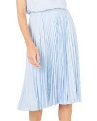Jacques Vert - Plisse Lace Insert Skirt - Lyst