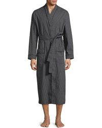 Black Brown 1826 - Cotton Diamond Print Robe - Lyst