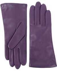 Lord & Taylor - Three-button Leather Gloves - Lyst