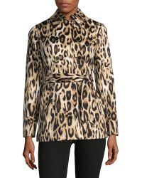 INC International Concepts | Petite Leopard Print Wrap Jacket | Lyst