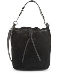 AllSaints - Billie Suede Bucket Bag - Lyst