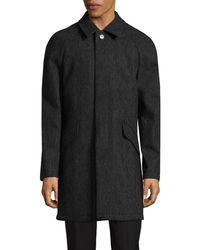 DKNY - Herringbone Wool-blend Coat - Lyst
