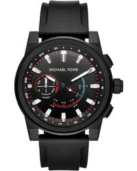 Michael Kors - Grayson Hybrid Smartwatch Stainless Steel Silicone Strap Watch - Lyst