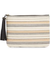 Karl Lagerfeld - Toby Natural Stripe Pouch - Lyst
