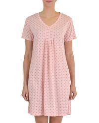 Claudel - Dot-print Short-sleeve Nightgown - Lyst
