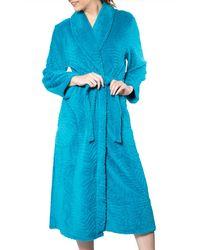 Jasmine Rose - Shawl Collar Plush Robe - Lyst