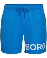 Björn Borg - Zwemshort Met Logo - Lyst