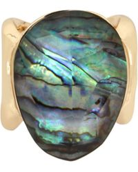 Robert Lee Morris - Midnight Hour Abalone And Crystal Statement Ring - Lyst
