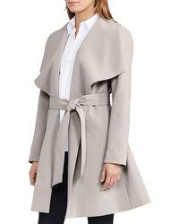 Lauren by Ralph Lauren | Crepe Open-front Coat | Lyst