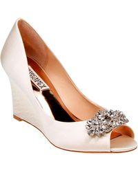 Badgley Mischka - Dara Peep-toe Wedge Shoes - Lyst
