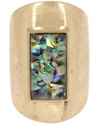 Kenneth Cole | Geometric Abalone Ring | Lyst