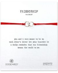 Dogeared - Friendship Double Linked Sterling Silver Rings Bracelet - Lyst