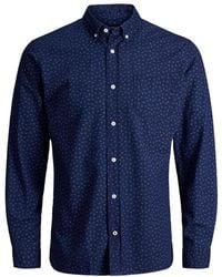 Jack & Jones | Long-sleeve Cotton Sport Shirt | Lyst