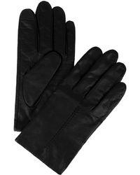 Calvin Klein   Raised Point Leather Gloves   Lyst