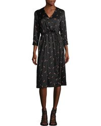 MO&CO. EDITION10 - Printed Wrap Dress - Lyst